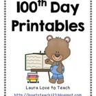 100th Day Printables Grades 1-4