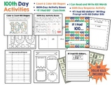 100th Day of School Activity Pack:  6 Fun Literacy and Mat