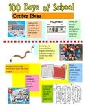 100th Day of School Center Ideas