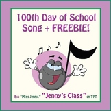 100th Day of School Song - Common Core-Aligned