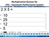 11 CPS Multiplication Fact Drills - Classroom Performance System