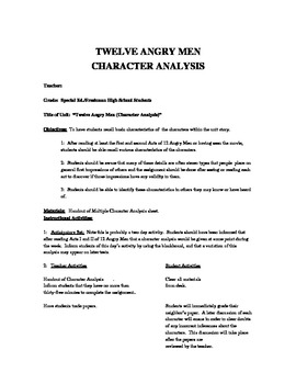 Twelve Angry Men Essay Topics & Writing Assignments