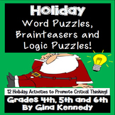 Challenging Holiday (Christmas) Word Puzzles, Brain Teaser