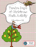 12 Days of Christmas Math Activity {enhanced with Augmente