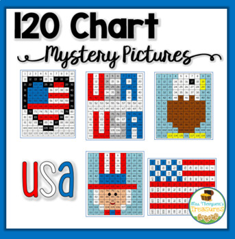 120 Chart Mystery Pictures - USA Patriotic Pack