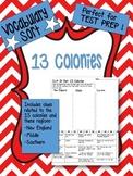 13 Colonies / Colonial Regions Vocabulary Word Sort