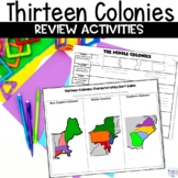 13 Colonies Graphic Organizers & Sorting Game