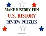 13 U.S. History Review Puzzles Plus 6 Puzzle Templates