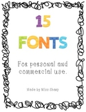 15 Fonts by Miss Sharp