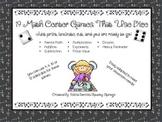 19 Math Center Games - Using Dice