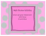 19 Math Review Activities