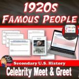 "1920's ""Meet & Greet"" – Popular Culture of the Twenties (U"