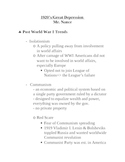 1920's and 1930's (Great Depression) lecture