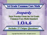 1.OA.6 1st Grade Math Jeopardy Game Fluently Add & Subtrac