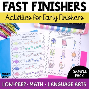 BAT Book Sampler - Common Core Activities for Early Finishers & Free Time!
