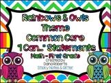 "1st Grade Common Core ELA & Math ""I Can"" Statements - Rain"