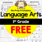 1st Grade Common Core Language Practice Sheets Freebie