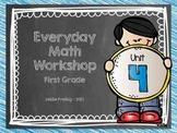 1st Grade Everyday Math Workshop Plans for Unit 4
