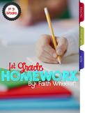 1st Grade Homework (1st 9 Weeks)