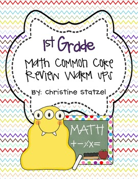 1st Grade Math Common Core Review Warm-Ups