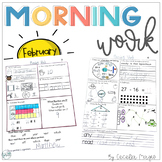 1st Grade Math and Literacy Common Core Morning Work 7th M
