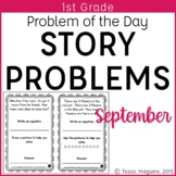 1st Grade Problem of the Day Story Problems- September