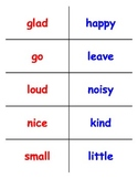 1st Grade Synonym Matching Cards