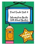 1st Grade Writing Unit 4 Charts and Lessons