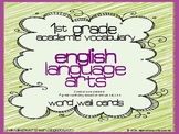 1st grade Core Academic Vocabulary WORD WALL cards English