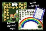 2 Attendance March St. Patricks's Day Interactive Smartboa