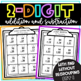 2 Digit Addition and Subtraction Set 1 (No regrouping and
