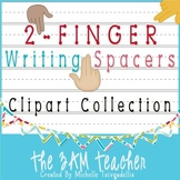 2-Finger Writing Spacers Clip Art Collection