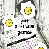 Sight Word Games - FREE Printable