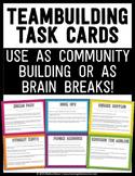Teambuilding Activities and Brain Breaks