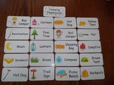 20 Laminated Camping themed Flash Cards.  Preschool Pictur