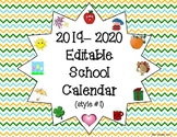 2015-2016 Editable School Calendar