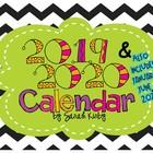 2015-16 Editable Calendar - PDF Version