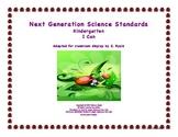 """Kindergarten K Next Generation Science Standards NGSS """"I C"""
