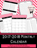 2015 - 2016 Monthly Calendar Blue Stripes
