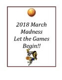 2016 March Madness Packet: Let the Games Begin