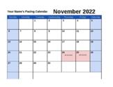 2015-2016 Pacing Calendar Template
