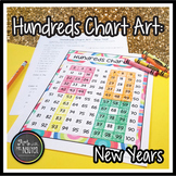 2015 New Years Hundreds Chart Art (Mystery Picture)