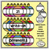21 Write-On Ornaments - Clip Art