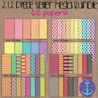 212 Piece Seller Mega Bundle- Digital Papers, Frames, Glit