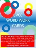 24 CVCC Word Work Cards