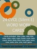 24 CVCE Word Work Cards