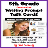 """25 Common Core 5th Grade """"Writing Prompt"""" Task Cards, Stan"""