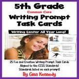 25 Common Core 5th Grade Writing Prompt Task Cards, Standa