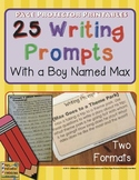 Writing Prompts {Lined Journals and Task Cards}
