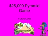 $25K Pyramid Game- Middle Grades Language Arts Game #1
